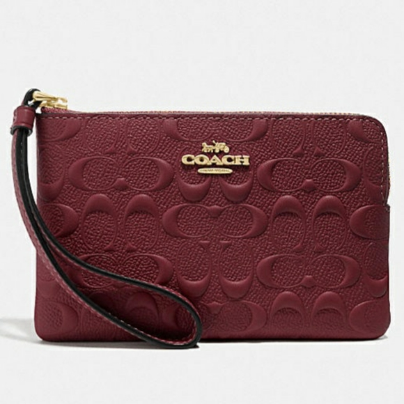 New authentic Coach leather wristlet